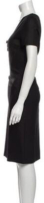Blumarine V-Neck Knee-Length Dress Black