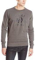 G Star Men's Fanced Crew Neck Sweatershirt In Range Sweat
