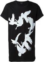 Ann Demeulemeester bird print T-shirt - men - Cotton - L