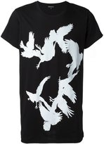 Ann Demeulemeester bird print T-shirt - men - Cotton - XL