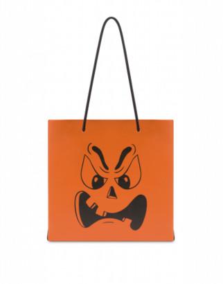 Moschino Pumpkin Face Shopper Woman Orange Size U It - (one Size Us)