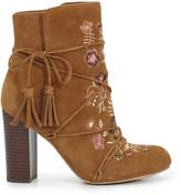 Sam Edelman Winnie Suede Embroidered Boot
