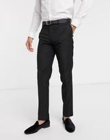 Asos Design ASOS DESIGN slim tuxedo suit trousers in black
