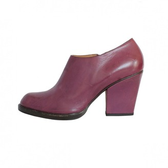 Fratelli Rossetti Purple Leather Ankle boots
