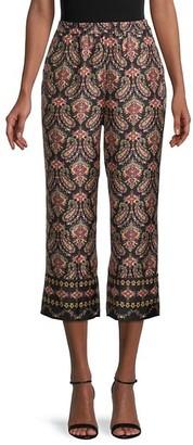 Kobi Halperin Heddie Paisley-Print Silk Pants
