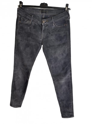 HTC Grey Cotton - elasthane Jeans for Women