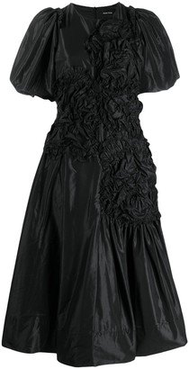 Simone Rocha Ruched Midi Dress