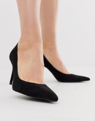 Stradivarius skinny heel pumps in black