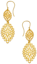 Argentovivo Gold Filigree Double Drop Earrings