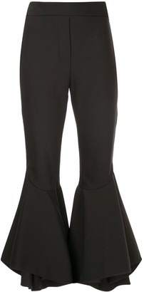 Ellery Full Flare Cropped Trousers