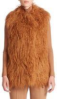 Stella McCartney Short Mongolian Lamb Faux-Fur Vest