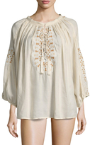 Melissa Odabash Avalon Cover-Up Peasant Top