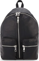 Replay Zipped leather backpack