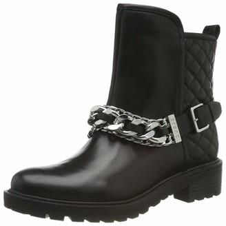 GUESS Women's Holana/Stivaletto (Bootie)/lea Biker Boots Black (Black Black) 4.5 UK