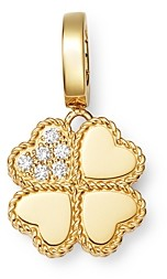 Roberto Coin 18K Yellow Gold Princess Charm Diamond Clover Charm