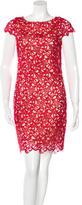 Alice + Olivia Lace Short Sleeve Dress