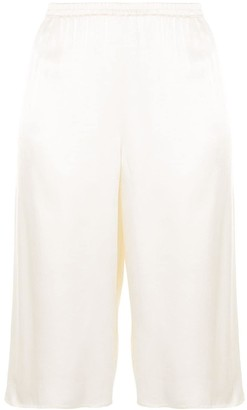 Sally LaPointe Textured Satin Shorts