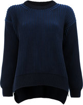 Paco Rabanne ribbed loose fit jumper - women - Cotton - XS