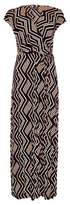 Dorothy Perkins Womens Multi Colour Zigzag Print Jersey Wrap Maxi Dress