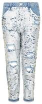 Topshop Petite Women's Hayden Ariel Shimmer Boyfriend Jeans