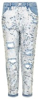 Topshop Women's Hayden Ariel Shimmer Boyfriend Jeans