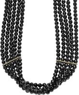 Lagos Caviar Icon Black Spinel Choker Necklace, 12.5