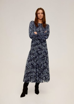 MANGO Floral-print flowy blouse black - 2 - Women