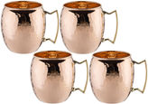 Old Dutch 16 Oz Solid Copper Moscow Mule Mugs Hammered Finish Set of 4