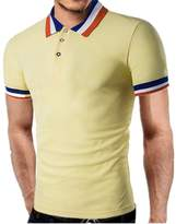 QWQHI Men's Casual Fit Short Sleeve Polo T-shirt