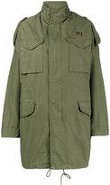 R 13 Olive Green oversized M65 parka coat