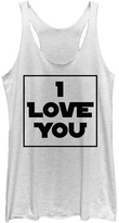 Fifth Sun White Star Wars 'I Love You' Racerback Tank - Juniors