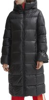 Noize Knee Length Puffer Coat with Adjustable Sleeves