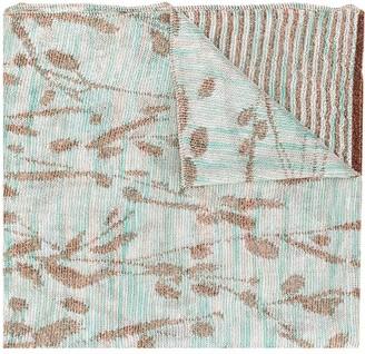 Missoni Stripe And Foliage Knit Scarf