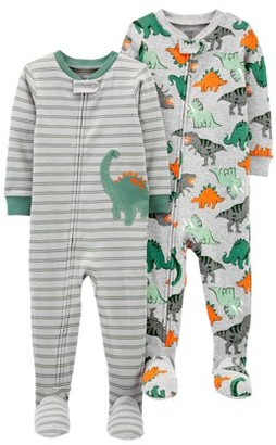 Child Of Mine By Carter's Child of Mine by Carters Baby & Toddler Boys 1-Piece Snug Fit Cotton Footed Pajamas, 2-Pack (9M-5T)