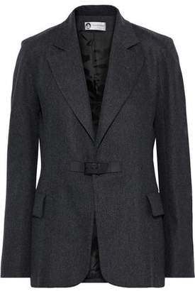 Lanvin Leather-trimmed Wool-blend Felt Blazer