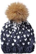 Joe Fresh Women's 2 Tone Knit Hat, Navy (Size O/S)
