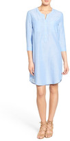 Velvet by Graham & Spencer Chambray Henley Shirtdress