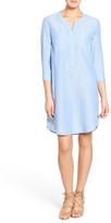 Velvet by Graham & Spencer Cotton Chambray Henley Shirtdress