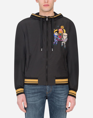Dolce & Gabbana Nylon Jacket With Hood And Patch