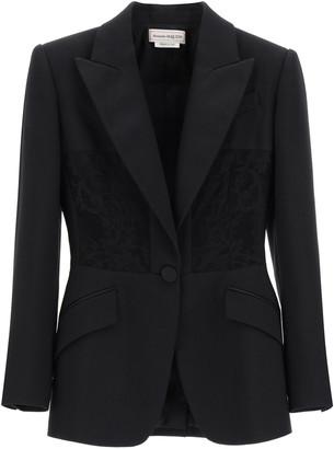 Alexander McQueen Blazer With Lace Inlays