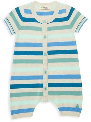The Bonnie Mob Baby Boy's Lazy Hazy Summer Days Striped Organic Cotton Short Playsuit
