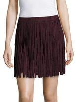 BB Dakota Sueded Fringe Mini Skirt