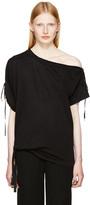 Ann Demeulemeester Black Carrie Off-the-shoulder T-shirt