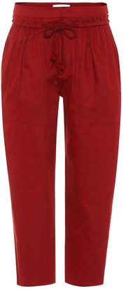 See By Chloã© Cotton twill cropped trousers