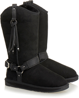 Australia Luxe Collective Black Harness Shearling Boot