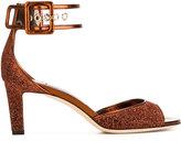 Jimmy Choo Moscow 65 sandals - women - Leather/Lurex/PVC - 39.5