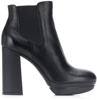 Hogan Chunky Heel Ankle Boots