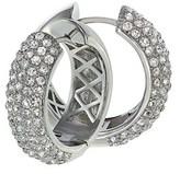Gottex Crystal Hoop Earrings.