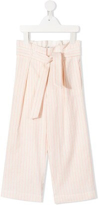 Bonpoint Striped Wide-Leg Trousers