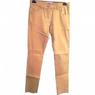 IRO Yellow Leather Trousers for Women